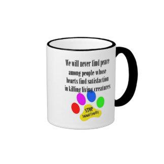 Peace STOP ANIMAL CRUELTY Mug