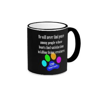 Peace STOP ANIMAL CRUELTY Mug (Black)