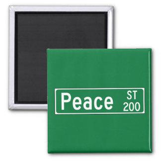 Peace Street , Road Sign, North Carolina, USA Fridge Magnet
