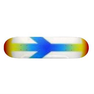 peace stretch skateboard deck