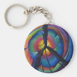Peace Stump Basic Round Button Keychain
