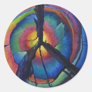 Peace Stump Classic Round Sticker
