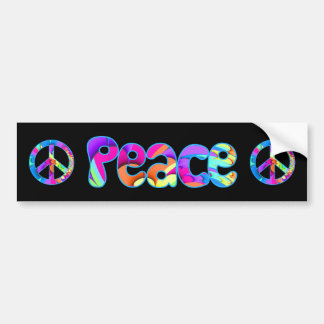 Peace Summer Palette Bumper Sticker Car Bumper Sticker