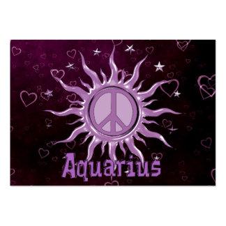 Peace Sun Aquarius Large Business Cards (Pack Of 100)