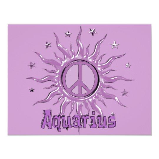 Peace Sun Aquarius Card