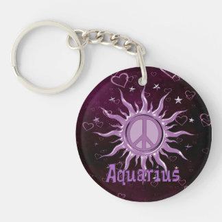 Peace Sun Aquarius Keychain