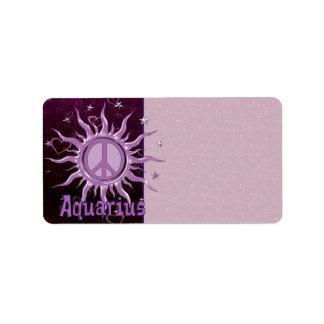 Peace Sun Aquarius Label