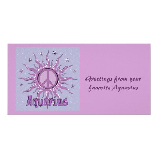 Peace Sun Aquarius Photo Card