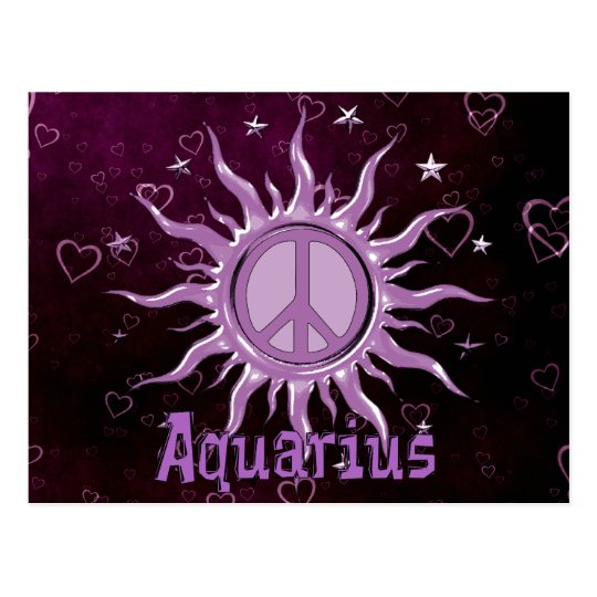 Peace Sun Aquarius Postcard