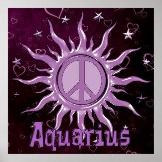 Peace Sun Aquarius Poster