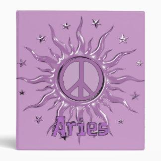 Peace Sun Aries Binder