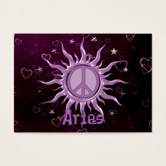 Peace Sun Aries Business Card