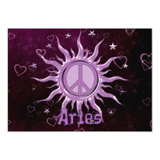Peace Sun Aries 5x7 Paper Invitation Card
