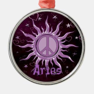 Peace Sun Aries Metal Ornament