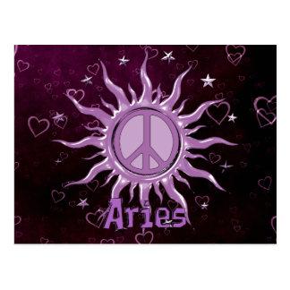 Peace Sun Aries Postcard