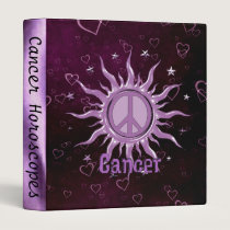 Peace Sun Cancer 3 Ring Binder