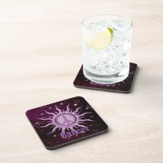 Peace Sun Cancer Beverage Coaster