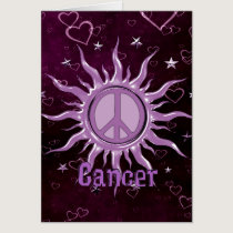 Peace Sun Cancer Card