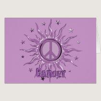 Peace Sun Cancer Card