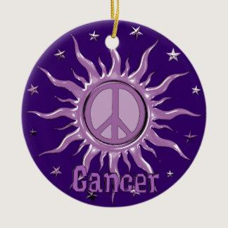 Peace Sun Cancer Ceramic Ornament