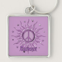 Peace Sun Cancer Keychain