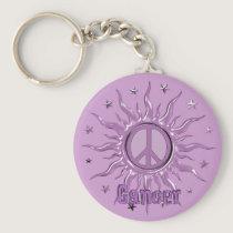 Peace Sun Cancer Keychain