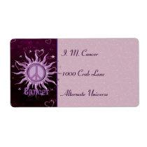 Peace Sun Cancer Label