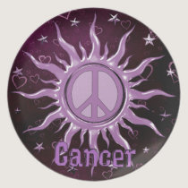 Peace Sun Cancer Melamine Plate