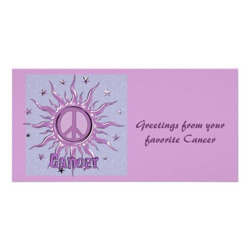 Peace Sun Cancer Photo Card