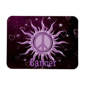Peace Sun Cancer Rectangular Photo Magnet