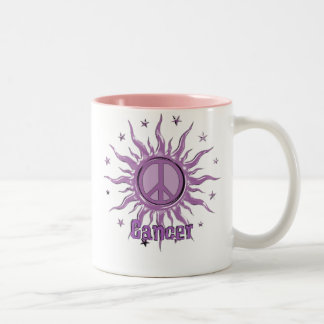 Peace Sun Cancer Two-Tone Coffee Mug
