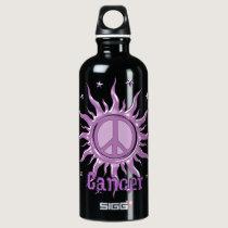 Peace Sun Cancer Water Bottle