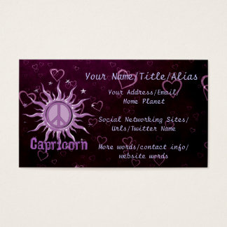 Peace Sun Capricorn Business Card