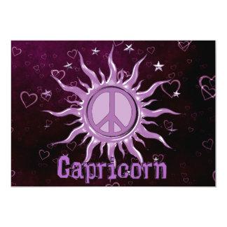 Peace Sun Capricorn Custom Invitations