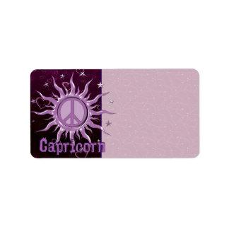 Peace Sun Capricorn Label