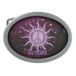 Peace Sun Gemini Belt Buckle