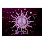 Peace Sun Gemini Business Card Templates