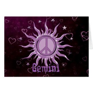 Peace Sun Gemini Cards