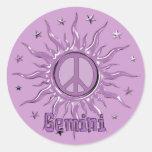 Peace Sun Gemini Sticker