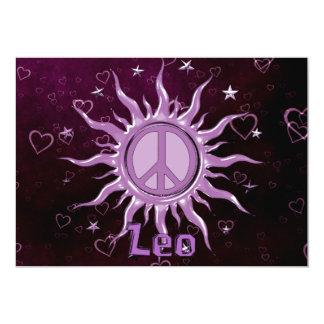 """Peace Sun Leo 5"""" X 7"""" Invitation Card"""