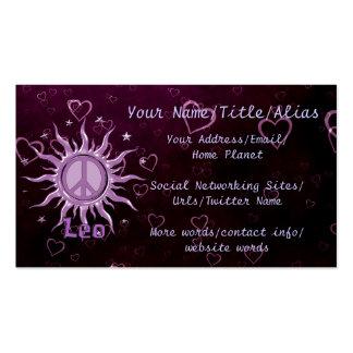 Peace Sun Leo Business Card Templates
