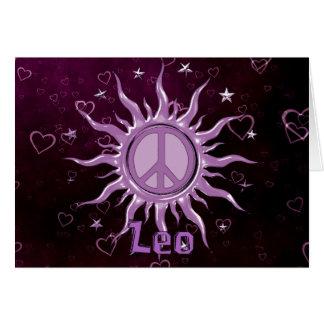 Peace Sun Leo Card
