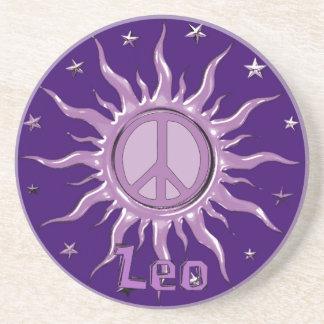 Peace Sun Leo Coaster