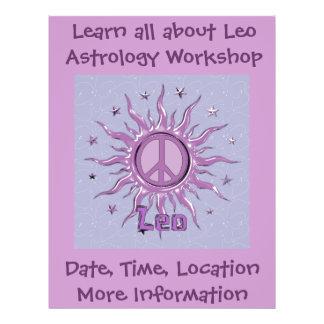Peace Sun Leo Personalized Flyer