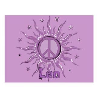 Peace Sun Leo Post Cards