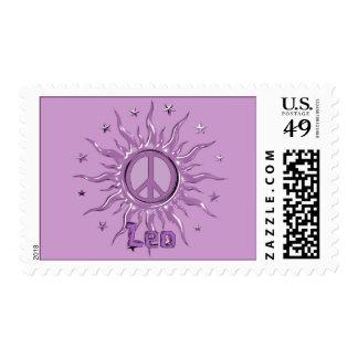 Peace Sun Leo Postage Stamps