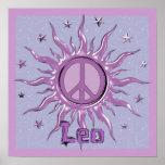 Peace Sun Leo Poster
