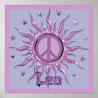 Peace Sun Leo Print