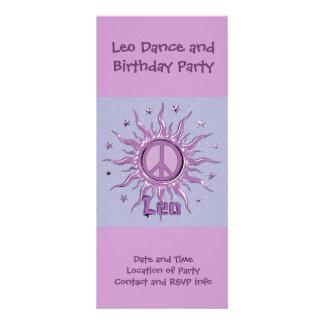 Peace Sun Leo Rack Card