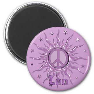 Peace Sun Leo Refrigerator Magnet